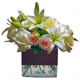 Contemporary Lilies & Roses
